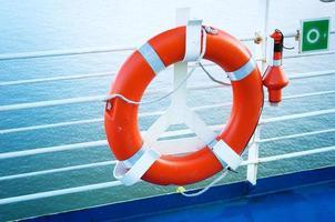 cinturón salvavidas en ferry foto