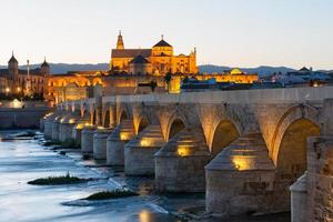 Roman bridge and Mosque-Cathedral in Cordoba photo