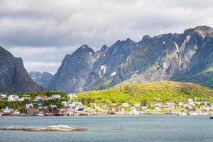 Scenic town of Reine  village, Lofoten islands, Norway photo