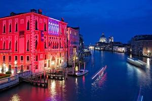 The Grand Canal of Venice by night, Italy