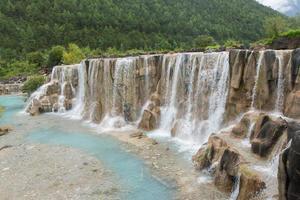 waterfall in jade dragon snow mountain