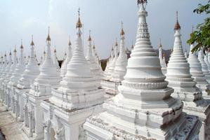 Stupas of Kuthodaw temple in Mandalay,Myanmar .