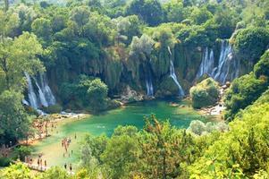 Picturesque Kravica waterfalls, Bosnia and Hercegovina