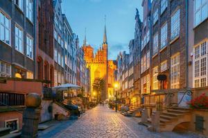 Gdansk.  Mariacka street at night