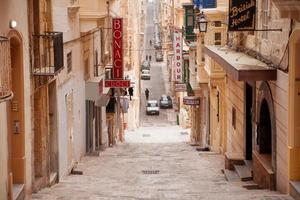 Old Battery street in Valletta, Malta. photo