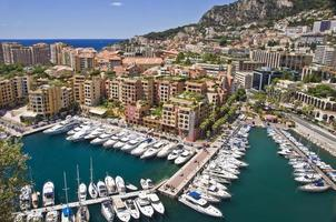 Sailboats in the harbor of Fontvieille, Monaco principality, french riviera