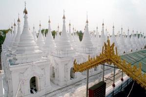 Stupas of Kuthodaw temple in Mandalay, Myanmar .