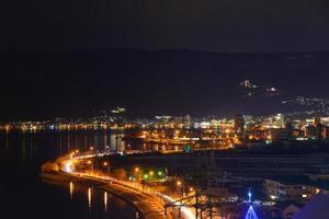 Night View of the Suwa city photo