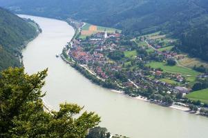 Village on riverbank of Donau photo