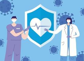 saludo y composición de agradecimiento para los trabajadores sanitarios