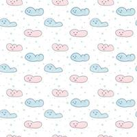 Cartoon clouds scandinavian seamless pattern