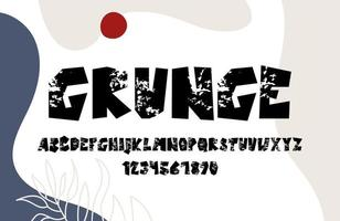 alfabeto grunge dibujado a mano vector
