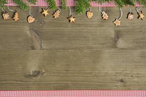Rustic Christmas decor on wooden table