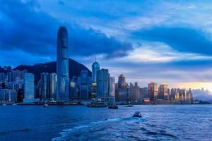 Dusk seascape in Hong Kong, China
