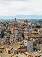 vista aérea de casas de pueblo foto