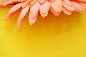 Fake pink flower in macro lens