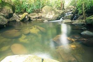 paisaje natural en la cascada khlong pla kang