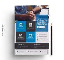 Blue, Black and Gray Corporate Company Flyer
