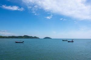 Boats on the sea photo