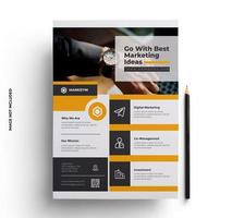 Yellow and Gray Print Ready Flyer Template