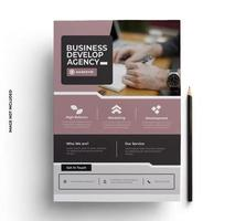 Pink and Gray Print Ready Flyer Template