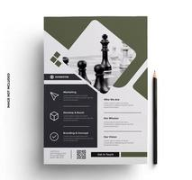 Green and Gray Flat Print Ready Business Flyer Template