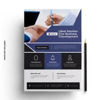 Purple and Black Modern Business Flyer Template