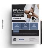 Purple, Black and Gray Business Flyer Template