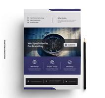 Purple and Gray Business Flyer Template