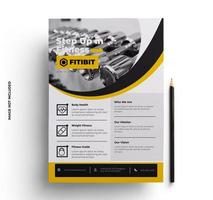 Yellow, Gray and Black Corporate Flyer Template