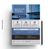 Blue, Gray and Black Business Flyer Template