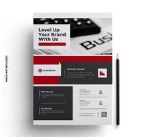 Red, Black and Gray Corporate Flyer Template