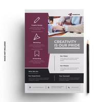Purple and Gray Corporate Flyer Template