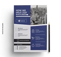 Purple and Gray Sleek Business Flyer Template