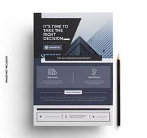Purple and Gray Flyer Design Template