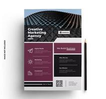 Purple and Black Business Flyer Template