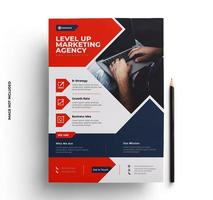 Red, Blue and Gray Business Flyer Template vector