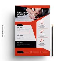 Red, Gray and Black Business Flyer Template