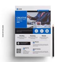 diseño de volante azul plantilla lista para imprimir