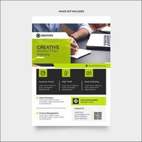 Green and Black Corporate Print Ready Flyer Template