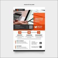 Orange Flyer Design Layout Template vector