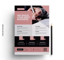 diseño de volante de negocios rosa listo para imprimir