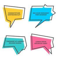 Colored quote speech bubble template set