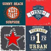 Set of vintage design prints for t-shirts