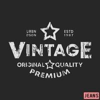 Vintage stamp t-shirt print design vector