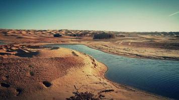 Sahara Wüstenlandschaft. In der Ouadette-Oase.