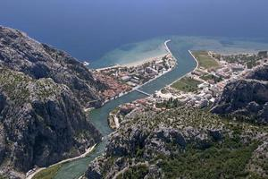 Town Omis, Croatia photo