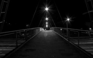 bridge at night in Munich