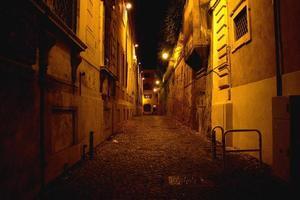 callejón abandonado - roma foto