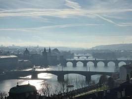 praga em manhã nublada, república checa